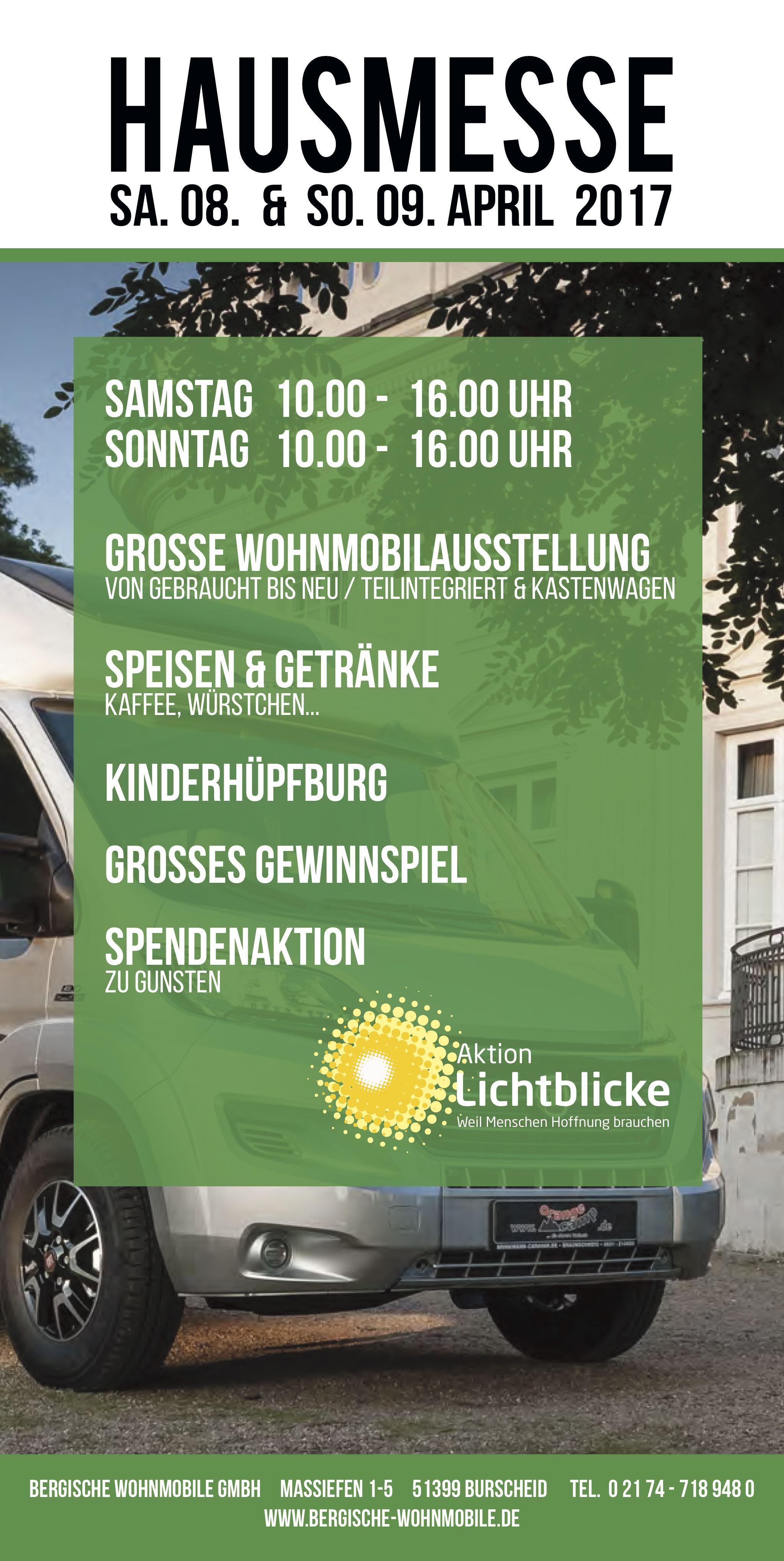 Hausmesse bei Bergische Wohnmobile e.K. in Burscheid