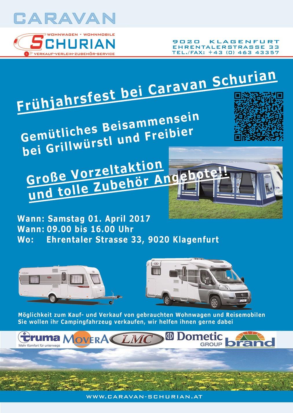 Frühlingsfest bei Caravan Schurian in Klagenfurt am Wörthersee
